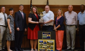 City officials presented with Municipal Association 'Achievement' trophy
