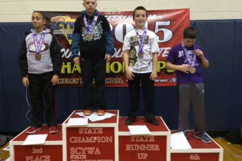 Photo of the Day: Northwest Middle student wins state wrestling championship