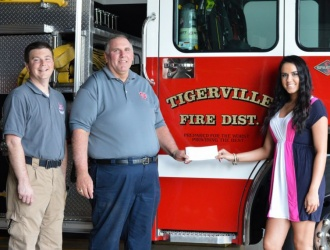 Local student's fundraiser nets more than $3,500 for Tigerville FD